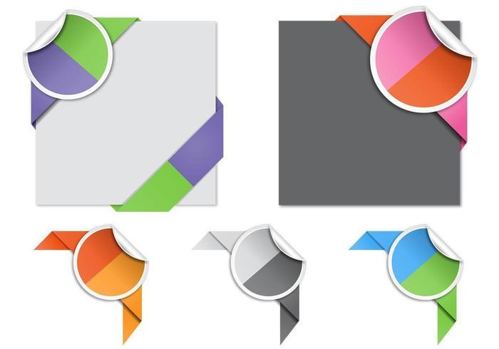 Split Colored Corner Vektor Pack
