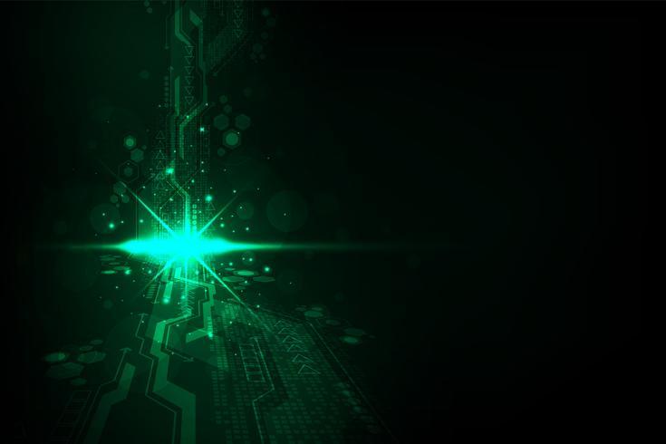 Die Komplexität des digitalen Systems. vektor