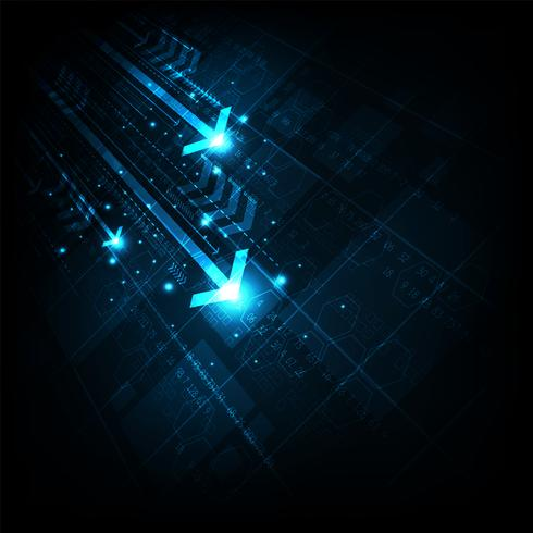 Snabbt och modernt Internetkommunikationssystem. vektor