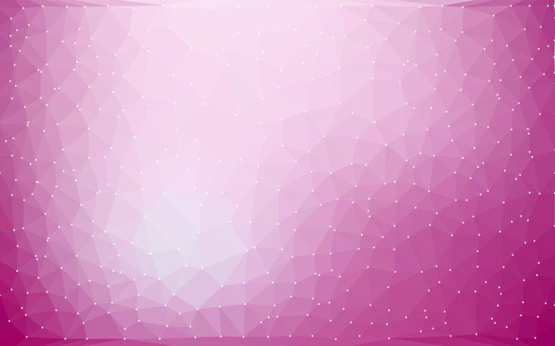 Abstrakter bunter niedriger Polyvektor-Hintergrund mit futuristischem Muster der purpurroten Steigung. vektor