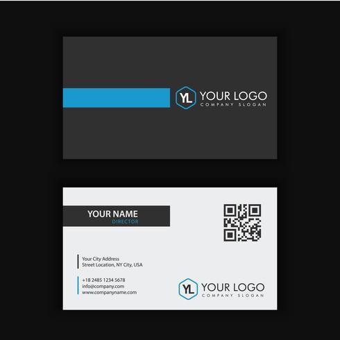 Modernt kreativt och rent visitkort med blått mörk vektor