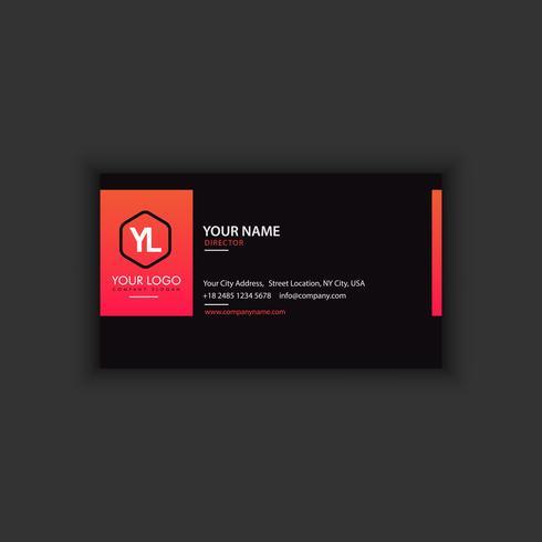 Kreativ och ren visitkortsmall. Svarta och röda färger vektor