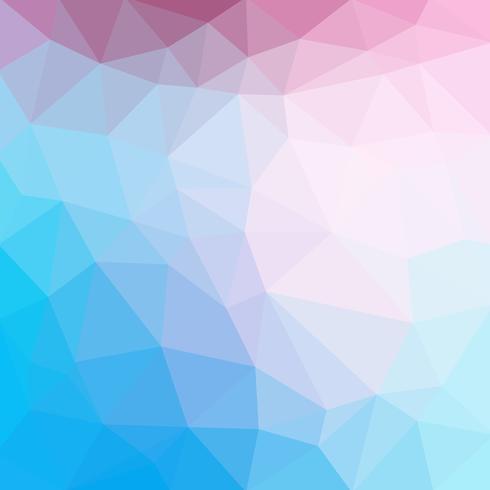 Hellblauer kühler Vektor Niedriger Polykristallhintergrund. Polygon-Entwurfsmuster. Niedriger Polyillustrationshintergrund.
