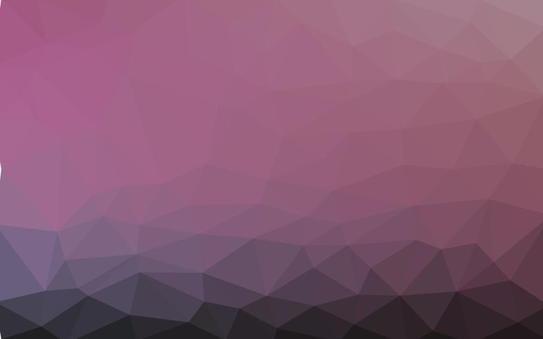 Hellpurpurner Vektor Niedriger Polykristallhintergrund. Polygon Design
