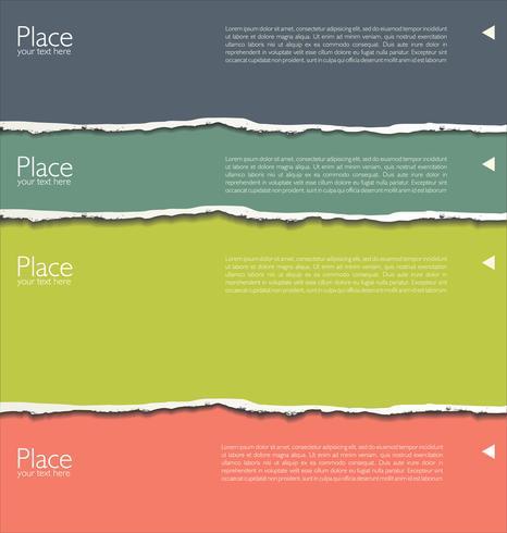 färgstarkt revet papper vektor