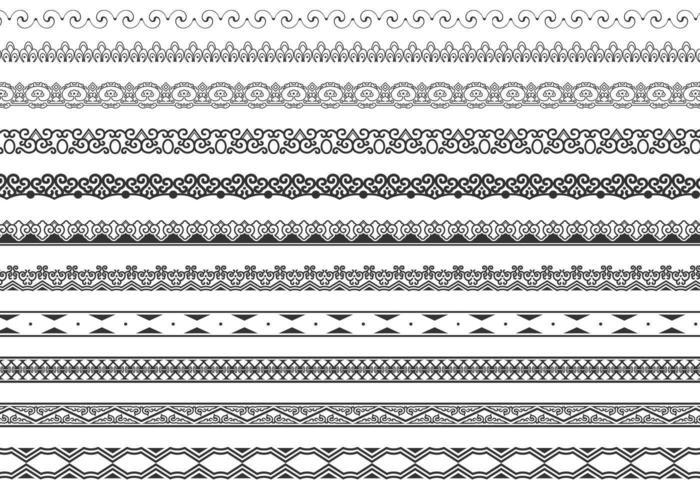 Ornamentale Border Vector Pack