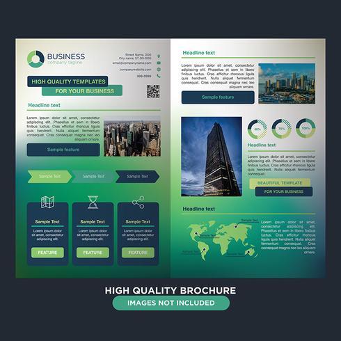 Green Business Fold Broschüre vektor