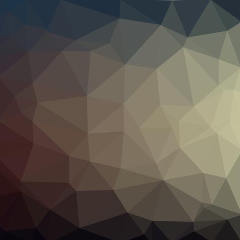 Polygoner med låg polygoner i svart grå vektor