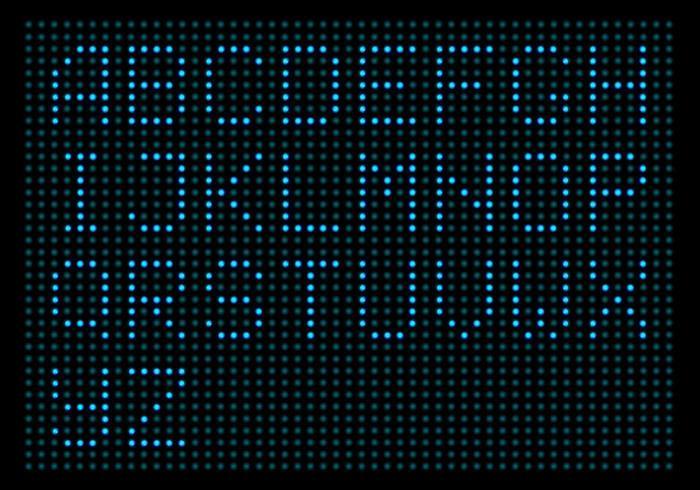 digitalt ledat ljus alfabet vektorpack vektor