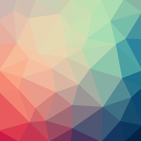 Hellblauer roter Vektor Niedriger Polykristallhintergrund. Polygon Design