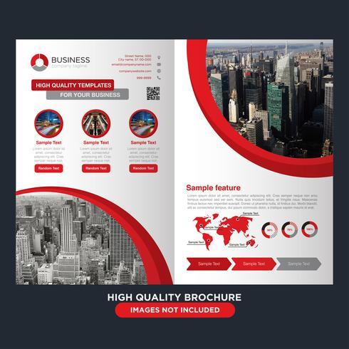red business fold broschyr vektor