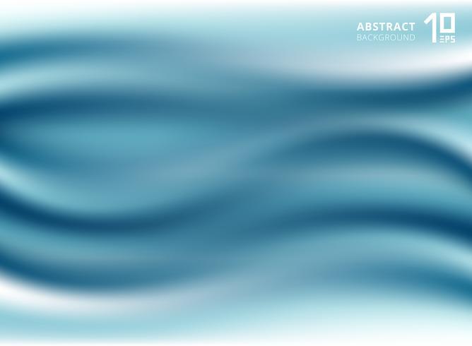 Schöner blauer Luxusstoff oder flüssige Welle oder gewellter silk Beschaffenheitssatin der Falten. vektor