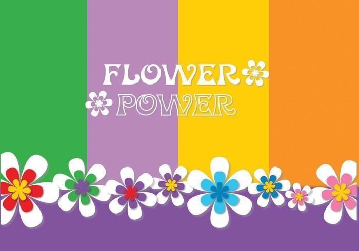 Flower Power Hintergrund Vektor