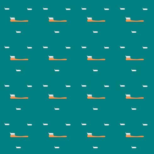Vektor-Zahnbürste des nahtlosen Ikonendesigns des Musters. Illustration. vektor