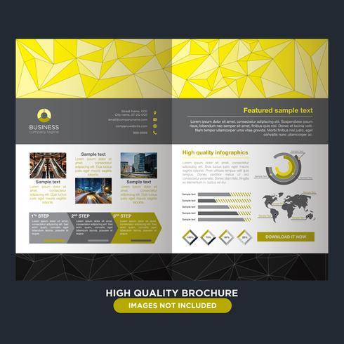Yellow Low Poly Brochure vektor