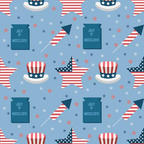 USA sömlöst mönster vektor