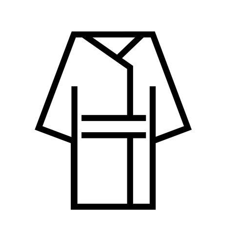 Bademantel-Symbol Vektor