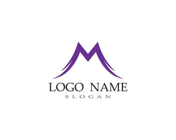 M-Buchstabe Logo Business Template Vector