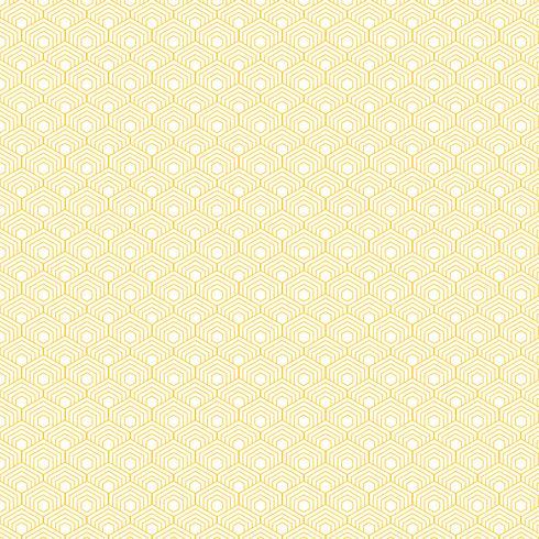 Abstrakt gul hexagon gräns mönster bakgrund. vektor