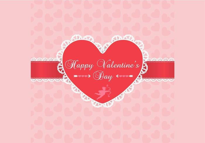 Lace Valentinsdag bakgrundsvektor vektor