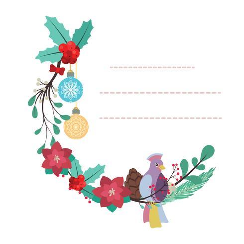 Reizende Notizblockschablone mit Vogel- und Blumendesign vektor