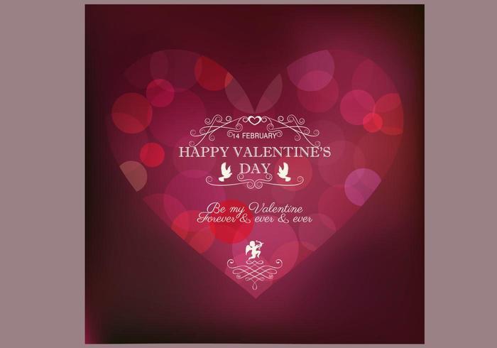 Bokeh Alla hjärtans dag bakgrundsvektor vektor