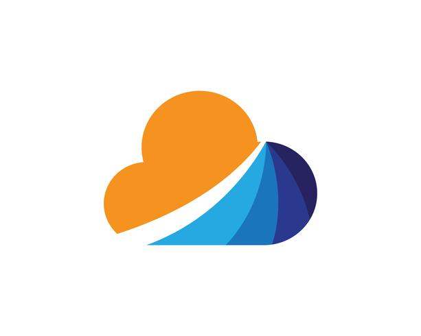 Cloud-Vorlage Vektor