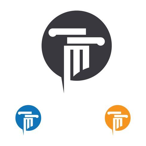 kolumn Logo vektor mall