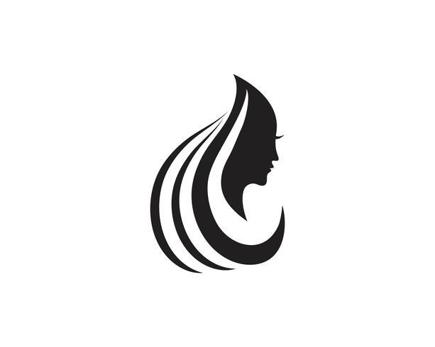Hår och ansikte salonglogo vektor mallar
