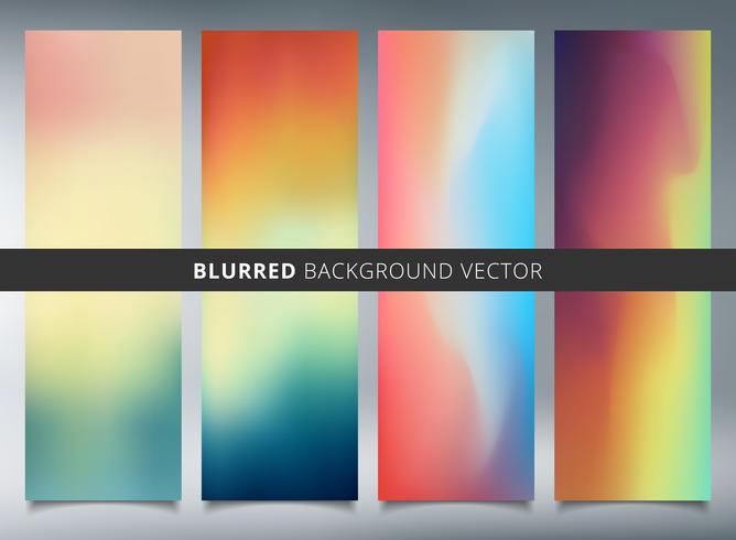 Set av abstrakta färgglada suddiga vektorbakgrunder. vektor