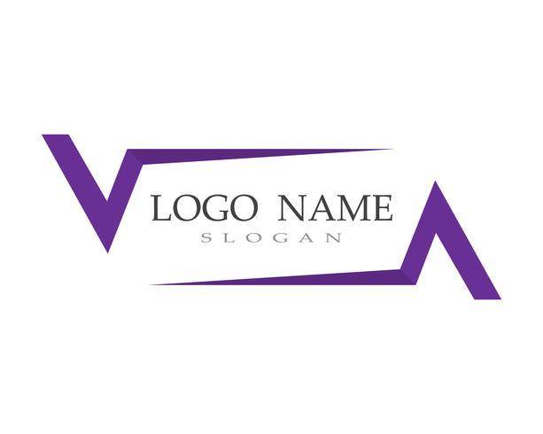 V-Logo und Symbolschablonen-Ikonenvektoren vektor