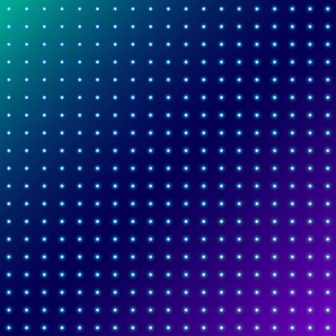 Abstrakta prickar glödande radiella mönster på blå utrymme bakgrund. vektor