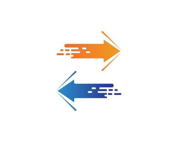 Snabbare Flash Template Vector Icon Illustration
