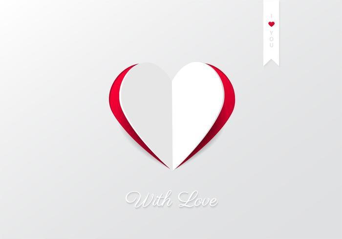 Cutout Hjärta Bakgrund Vector