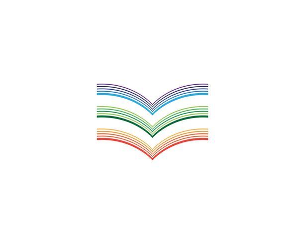 Buch lesen Logo und Symbole Vorlage Symbole vektor