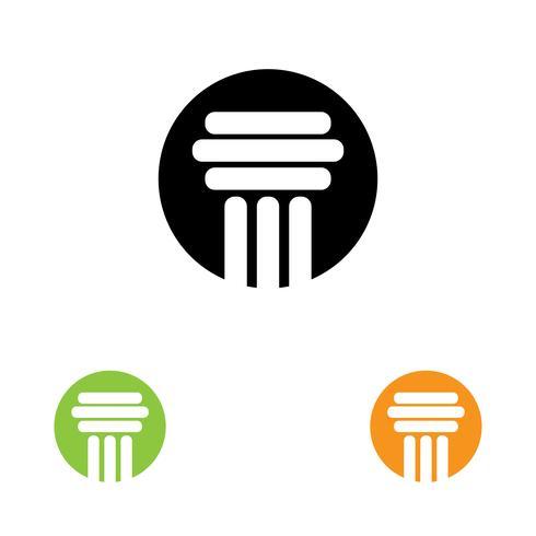 Spalte Logo Vektor Vorlage