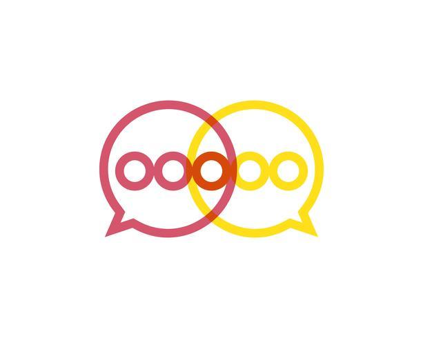 Spracheblasenikone Logoschablonenvektor-Illustrationsvektor vektor
