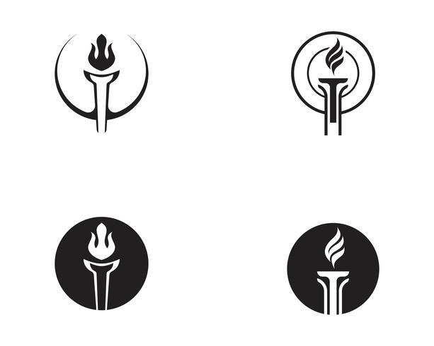 Initial T för Torch logo och symbol design inspiration vektor