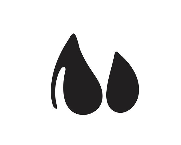 Vattendroppe svart n färglogotyper vektor