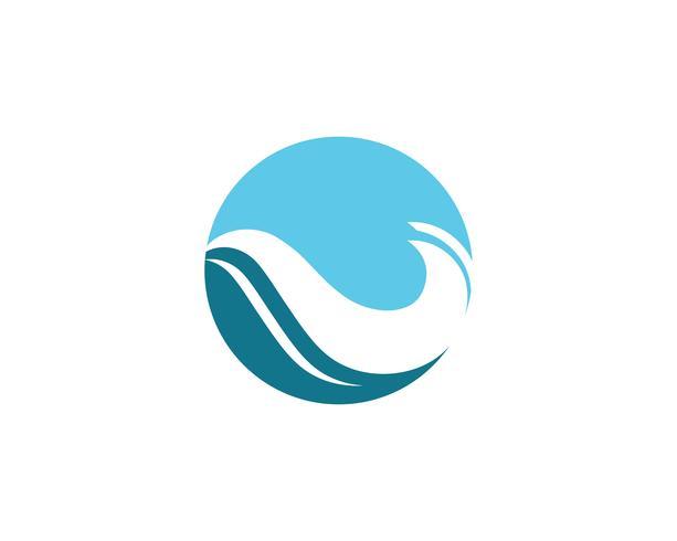 Wasserwellenstrand-Logovektoren vektor