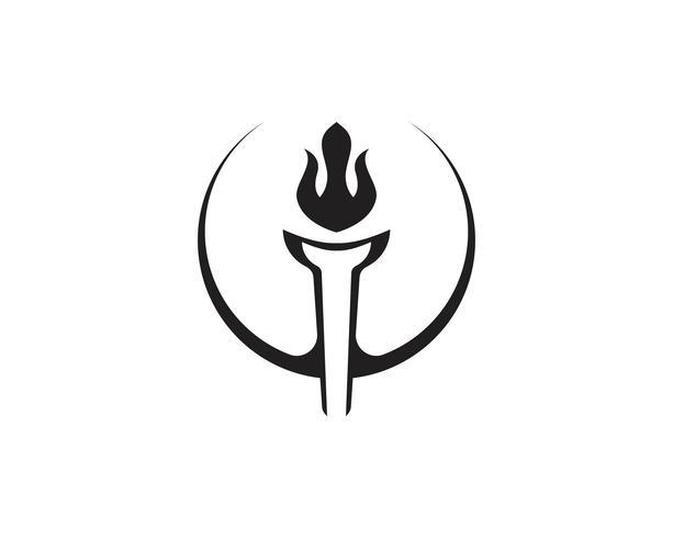 Initial T for Torch Logo und Symbol Design Inspiration vektor