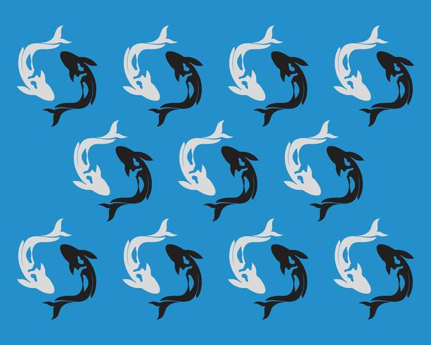 Karpfen Koi Design auf weißem Hintergrund. Tier. Fisch-Symbol. Unterwasser Leicht bearbeitbar geschichtet vektor