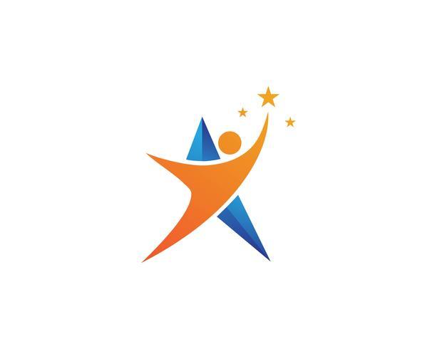 ledare karaktär logotyp underteckna illustration vektor