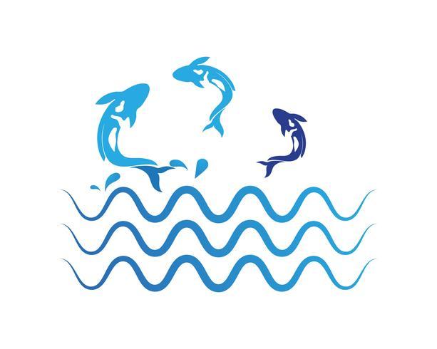 karp koi design på vit bakgrund. Djur. Fish Icon. Under vattnet. Lätt att redigera lagrad vektor