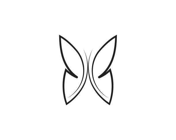 Skönhet Butterfly ikon design vektor