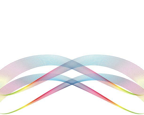 Bakgrundsvektorer med våglinje abstrack vektor