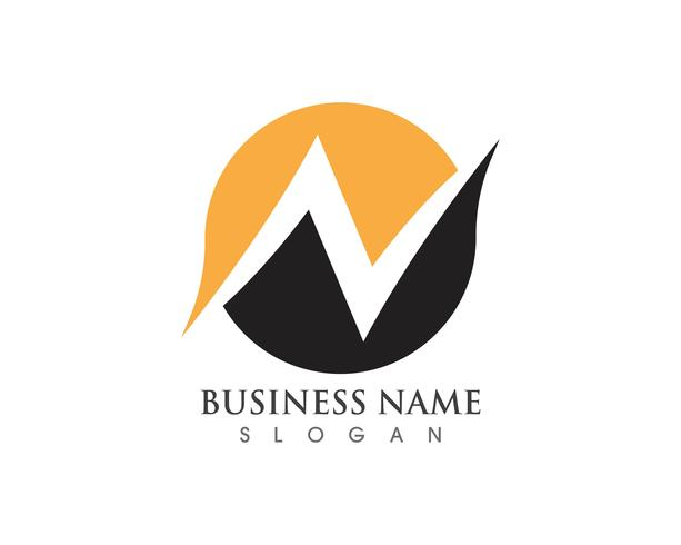 N Logo Letter Business Mall Vector