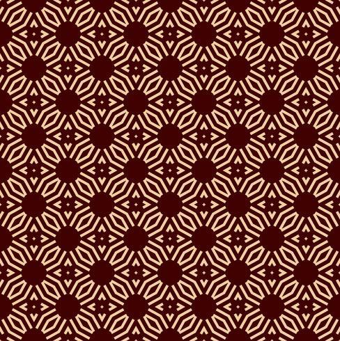 Seamless geometrisk linjemönster. Samtida grafisk design. Ändlös linjär struktur för tapeter, mönster fyllningar, webbsidor linje bakgrund. Monokrom guldbrun geometrisk prydnad vektor