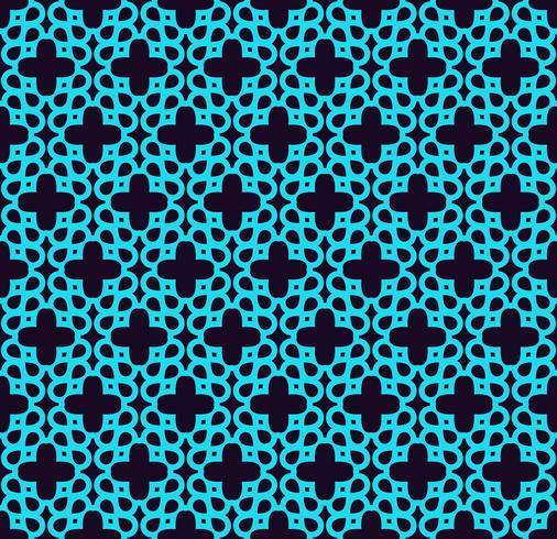 Sömlöst mönster. Prydnad av linjer och lockor. Lineär abstrakt bakgrund. vektor