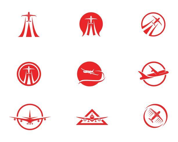 Flygplan ikon vektor illustration design